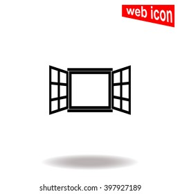 Open window. Universal icon to use in web and mobile UI