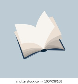Opened book with flattered pages vector illustration