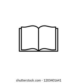 Opened Book icon vector. Book vector symbol