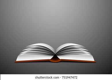 opened book - vector illustration
