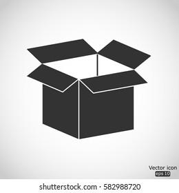 Opened box icon - vector  illustration