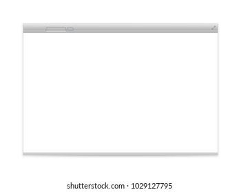 Opened browser vector mockup isolated on white