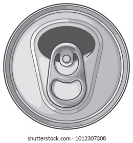 Opened can top vector illustration