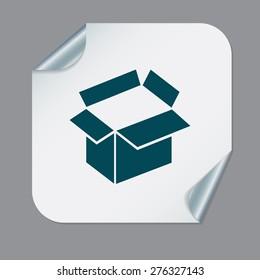 Opened cardboard box  icon