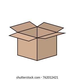 opened cardbox icon image