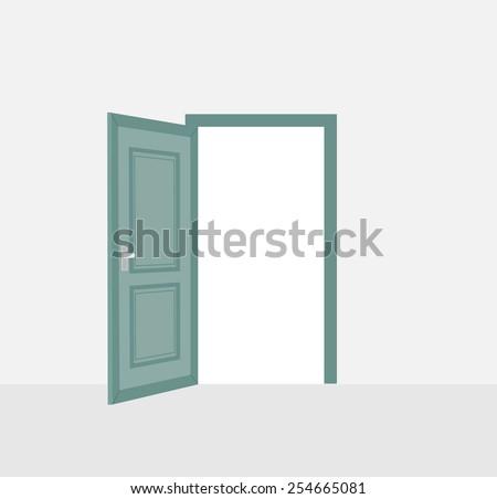 opened door vector illustration のベクター画像素材 ロイヤリティ