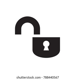 opened lock icon illustration isolated vector sign symbol