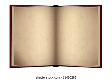 Opened old book with blank pages