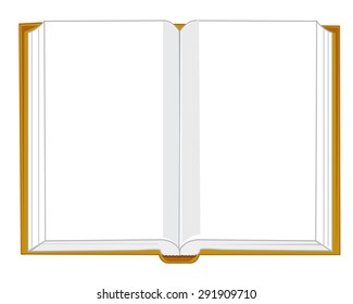 Opening book on white background is insulated