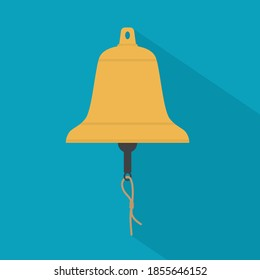 opening exchange stock market bell icon - vector illustration
