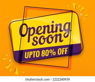 opening soon banner modern design