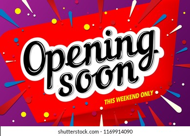 opening soon banner template design