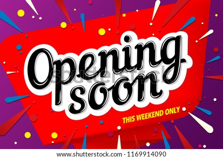 Opening Soon Banner Template Design Stock Vector Royalty
