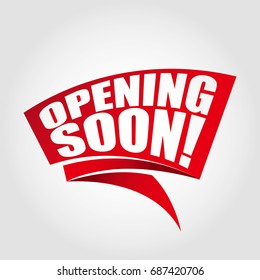 Opening soon labels banners