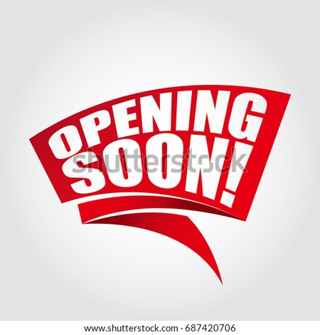 Opening Soon Labels Banners Stock Vector Royalty Free