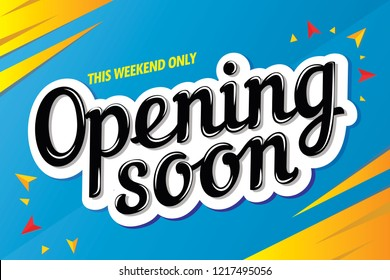 opening soon sale banner template