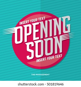 Opening Soon Signage/Poster Vector