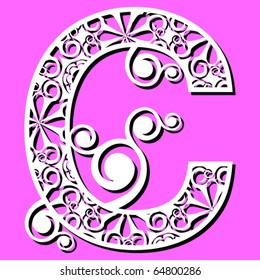 openwork alphabet, letter C