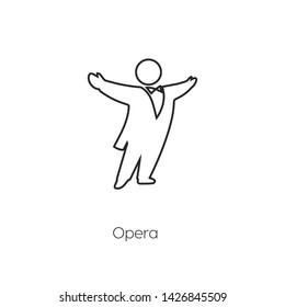 opera singer icon vector symbol