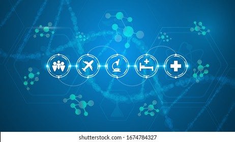 operating disease control medical healthcare processing system concept background eps 10 vector