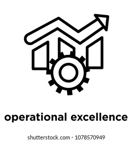 operational excellence icon isolated on white background, vector illustration