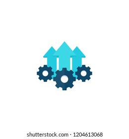 Operational excellence, production growth icon