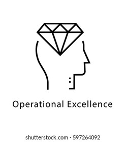 Operational Excellence Vector Line Icon