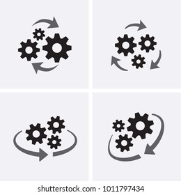 Operations Icon. Project Management. Vector set icons