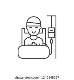 Operative period line icon concept. Operative period vector linear illustration, symbol, sign