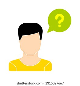 operator ask icon - operator ask isolated , customer service illustration - Vector operator