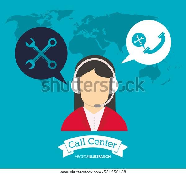 operator earphones call center world support