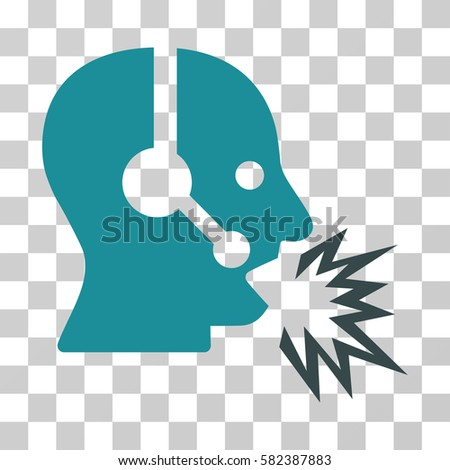 Operator Shout Vector Icon Illustration Style Stock Vector