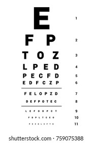 ophthalmic table for visual examination