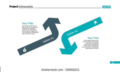 Opposing Arrows Diagram Slide Template