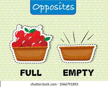 Opposite English Word on Green Background illustration