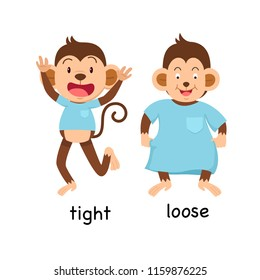 Opposite tight and loose vector illustration
