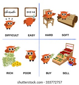 Opposite Soft Hard Vector Illustration Stock Vector (Royalty Free) 678556729