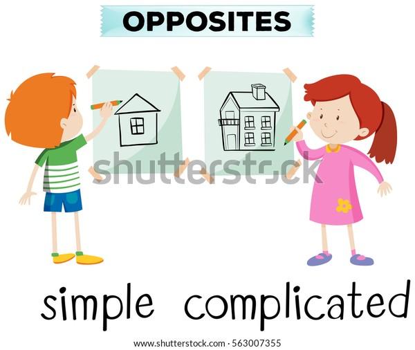 単純で複雑なイラストの対語」のベクター画像素材(ロイヤリティフリー ...
