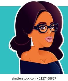 Oprah Winfrey Vector Caricature
