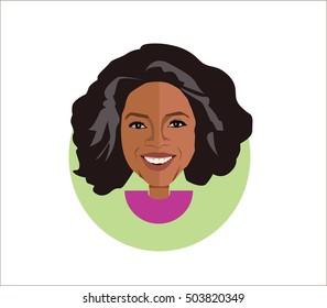 Oprah Winfrey.vector illustration flat design