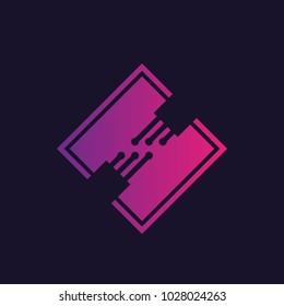 optic fiber cables vector logo
