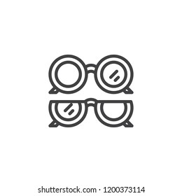 Optical eye glasses outline icon. linear style sign for mobile concept and web design. Ophthalmology ocular simple line vector icon. Symbol, logo illustration. Pixel perfect vector graphics