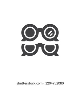 Optical eye glasses vector icon. filled flat sign for mobile concept and web design. Ophthalmology ocular simple solid icon. Symbol, logo illustration. Pixel perfect vector graphics