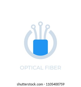 optical fiber icon, logo, vector