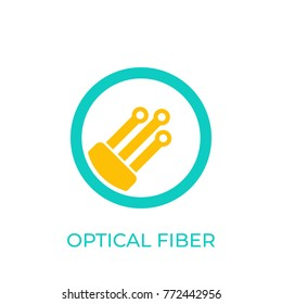 optical fiber icon on white
