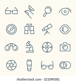 Optical icon set