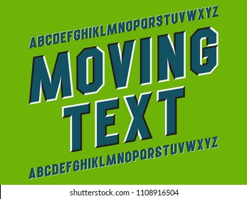 Optical illusion alphabet of moving letters.