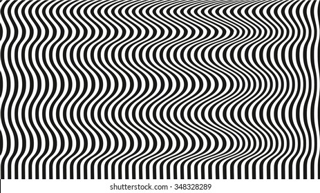 optical illusion art background. black and white desktop wallpaper. black lines on white background. graphic design.