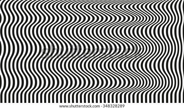 Optical Illusion Art Background Black White Stock Vector Royalty Free 348328289