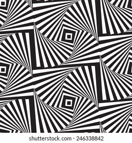 Optical illusion art square vector background